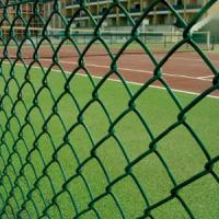 Buy cheap 9 Gauge Wire with 50mm Hole 6' x 50' PVC Diamond Chain Link Fence with Green from wholesalers