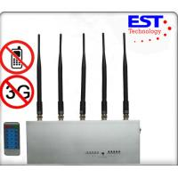 Stainless Steel Silver Cell Phone Signal Jammer with remote control For Police And Command Center Manufactures