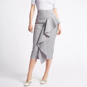 China 2018 Fashion Clothing Ruffle Pencil Skirts Ladies Office on sale