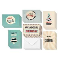 China Personal Retro Design Holiday Birthday Card 4 X 6 Inches With Blank Inside on sale