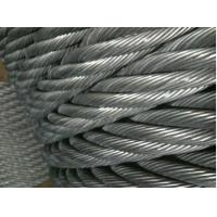 Marine Grade PVC Stainless Steel Wire Ropes Electro Glav 317L , 321 With Tensile Strength Manufactures
