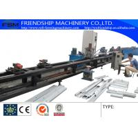 GCr15 1.0-3.0mm Thickness C Z Purlin Roll Forming Machine Automatic Punching Holes With 17 Forming Stations Manufactures