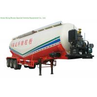 V Type Tank Semi Trailer 50 - 55 M3 , Dry Bulk Cement Trailers Heavy Duty Manufactures