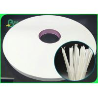 Buy cheap 100% Eco - Friendly 28mm 31mm 39mm Straw Wrapping Paper 28GSM For Straws from wholesalers