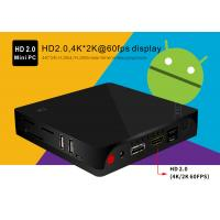 Black BT4.0 4K Mini PC I68 Android 5.1 Gigabit 1G / 8G BT 1000M Lan Ethernet Manufactures