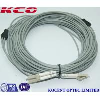 China OM3 OM4 OM5 LC Duplex Fiber Optic Patch Cord / Armoured Fibre Optic Cable on sale