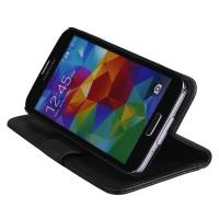 Lithchi PU Luxury Leather Case for Samsung Galaxy S5 with Stand and Card Holders Manufactures