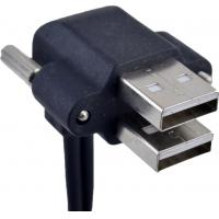 Right Angle USB Cable With Screw Dual 90 Degree USB CE Approved Manufactures