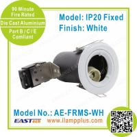 Quality IP20 Fixed White Fire Rated Downlight | GU10 Base | LED CFL Halogen for sale