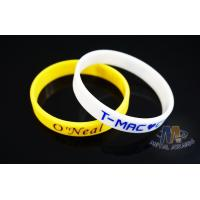 Reflective Custom Printed Silicone Wristbands , Custom Rubber Band Bracelet Manufactures