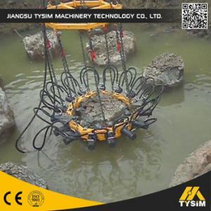 China 180mm Crowd Stroke Hydraulic Concrete Pile Cutter , Pile Cutting Machine on sale