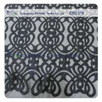 Eco - Friendly Customized Embroidered Fabric Lace Polyester Textiles 130cm Width Manufactures
