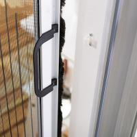Buy cheap Environmental Friendly Plisse Retractable Screen Door Customized Mesh Color from wholesalers