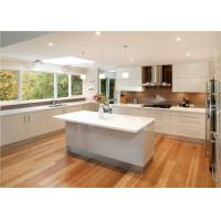 Quartz Countertop Commercial Kitchen Cabinets , L Shaped Kitchen Cupboards Manufactures