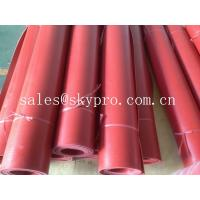 China Flooring / gasket red rubber sheet roll good elasticity and wear resistance on sale