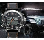 Men Casual Waterproof Leather Watches Men Wrist Luxury Quartz Dual Display Wristwatches Relogio Masculino Manufactures