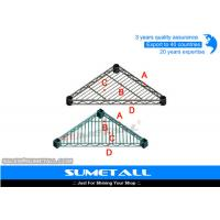 Triangle Shaped Chrome Wire Shelving , Stainless Steel Wire Shelves For Garage / Kitchen Manufactures