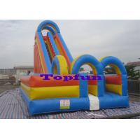 China Huge Inflatable Water Slide Outdoor Beach Wet And Dry Sliding Amusement on sale