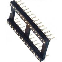 IC Socket 2*14P DIP Round Pin Header 2.54mm Row of Pitch 10.16 for PCB board Manufactures