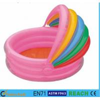 Rainbow Canopy Inflatable Swimming Pool Durable 0.2mm Material For Infants Toys Manufactures