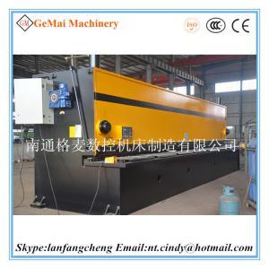 China GM Brand hydraulic guillotine shearing machine metal steel plate shear machine QC11Y-6*9000 more popular type on sale