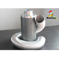 Aluminum Flange Grow Room Carbon Filter 45mm Carbon Bed Easy Installation Manufactures