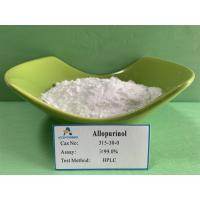 Quality Professional Pharmaceutical Raw Material Uric Acid Medication Allopurinol Powder 315 30 0 for sale