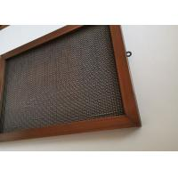 Cable Rod Architectural Wire Mesh Fabric For Facade Cladding Or Room Divider Manufactures