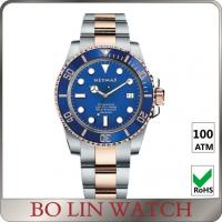 Swiss 2824 Movement Blue Dial Dive Watches , Classic Design Sapphire Crystal Watch Manufactures