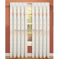 polyester embroidery curtain with fashion valance, window curtain