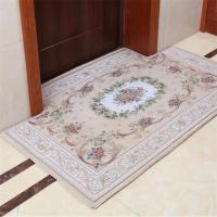 Floral Braided Polyester Area Rugs Anti - Slip Feature Customized Size Manufactures