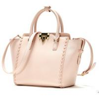 2015 Newly Design Napa Pattern Genuine Leather Tote Bag with Rivet Manufactures