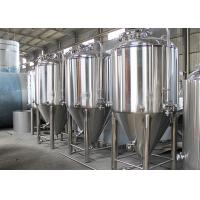 Dish Top Stainless Steel Conical Fermentation Tanks 2 - 5mm Thickness Manufactures