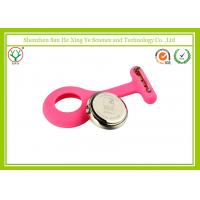 Soft Feeling Fashionable Pink Silicone Strap Watches With Japan Movet For Nurse Manufactures