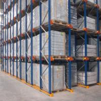 Cold Storage Drive In Pallet Rack System Customized Color Powder Coated Finish Manufactures
