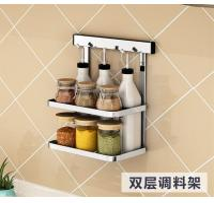 Quality Metal Hanger Wall Hanging Steel Kitchen Rack Movable Bathroom Storage for sale
