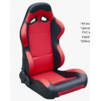 Cars Parts Universal Black And Red Racing Seats Foldable With Safety Belts Manufactures