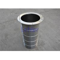 High Strength Wedge Wire Filter Elements High Pressure Flow Inside To Outside Type Manufactures