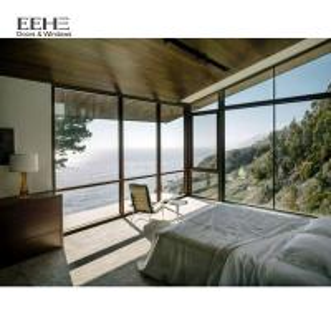 Modern House Design Aluminum Casement Windows Multi Colors Can Be Optional
