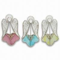 Stained Glass Angel Hang, Glass Crafts, Fashion Pendants, OEM Orders are Welcome Manufactures