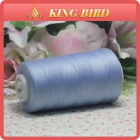 China Baby Blue Sewing Machine Thread 50S/2 Spun Polyester Low Shrinkage on sale