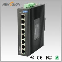 8 Port  RJ45 unmanaged full Managed Gigabit Ethernet Switch , industrial Din rail switch Manufactures