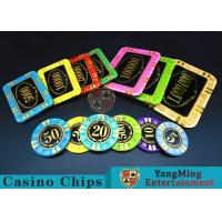 Round Shape RFID Casino Chips / Casino Poker Chips With Good Wear Resistance Manufactures