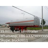 China hot sale high quality best price 35000 litres 2 axles fuel tank trailer, best quality chemical tank trailer for sale, on sale