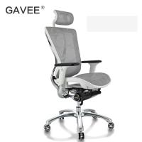 Backrest Locking Ergonomic Conference Chair With Polished Aluminum Frame Manufactures