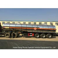 SS Chemical Tanker Truck For Ammonium Nitrate / Liquid Molten Sulfur Delivery Manufactures