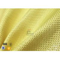 1500D 305gsm Yellow Kevlar Aramid Fabric For Bulletproof Vest TDS Approval Manufactures
