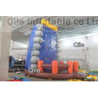 Gaint Red Inflatable Rock Climbing Mountain , Inflatable Amusement Park Manufactures