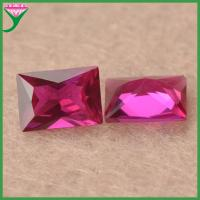 wholesale rectangle shape synthetic ruby 5# red synthetic corundum Manufactures
