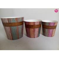 Eco Friendly 36oz Flower Paper Pot For Plant With Low Leakage Rate Manufactures